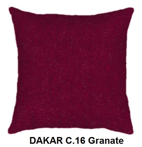 Cojín DAKAR de CAÑETE C.16 Granate Cojín 30x50 Cojín 50x50 Cojín 50x70