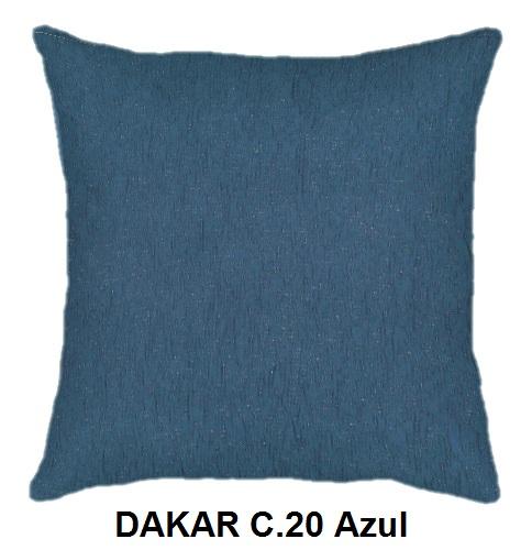 Cojín DAKAR de CAÑETE C.20 Azul Cojín 30x50 Cojín 50x50 Cojín 50x70
