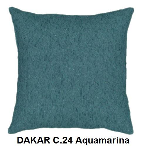 Cojín DAKAR de CAÑETE C.24 Aquamarina Cojín 30x50 Cojín 50x50 Cojín 50x70