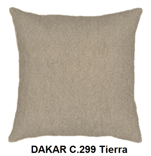 Cojín DAKAR de CAÑETE C.299 Tierra Cojín 30x50 Cojín 50x50 Cojín 50x70