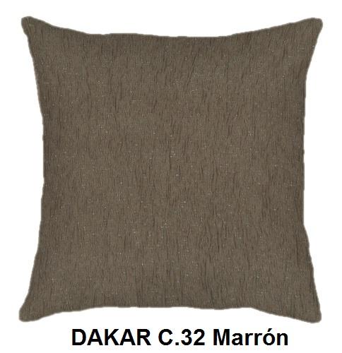 Cojín DAKAR de CAÑETE C.32 Marron Cojín 30x50 Cojín 50x50 Cojín 50x70