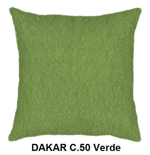 Cojín DAKAR de CAÑETE C.50 Verde Cojín 30x50 Cojín 50x50 Cojín 50x70