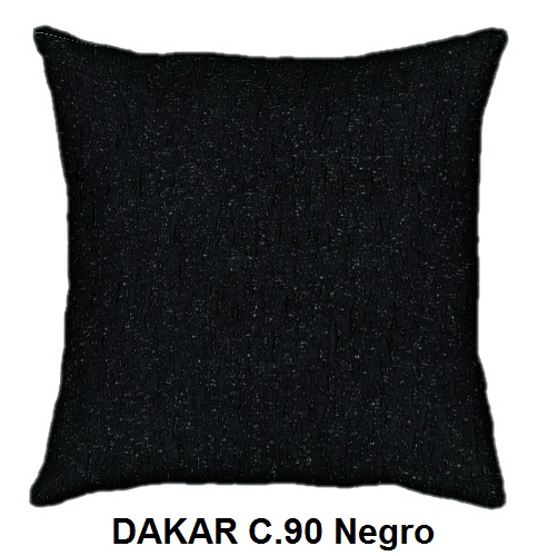 Cojín DAKAR de CAÑETE C.90 Negro Cojín 30x50 Cojín 50x50 Cojín 50x70