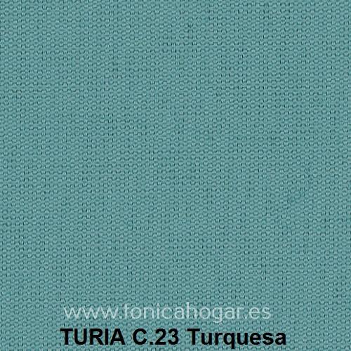 Cojín TURIA de Cañete C.23 Turquesa Cojín 50x70