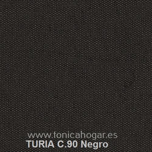 Cojín TURIA de Cañete C.90 Negro Cojín 50x70