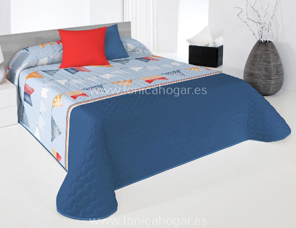 Colcha Boutie FLAG 2P Azul de Reig Marti
