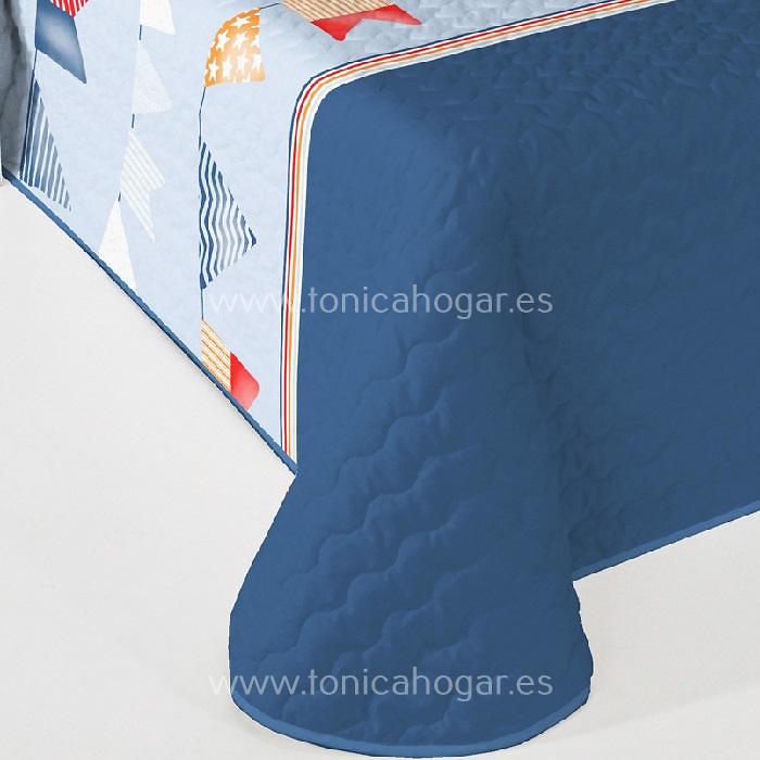 Detalle Colcha Boutie FLAG 2P C.03 Azul de Reig Marti