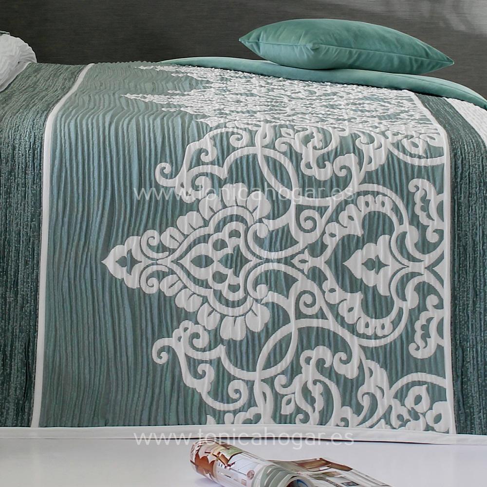Detalle Colcha CHAINA CH C.04 Verde de Reig Marti