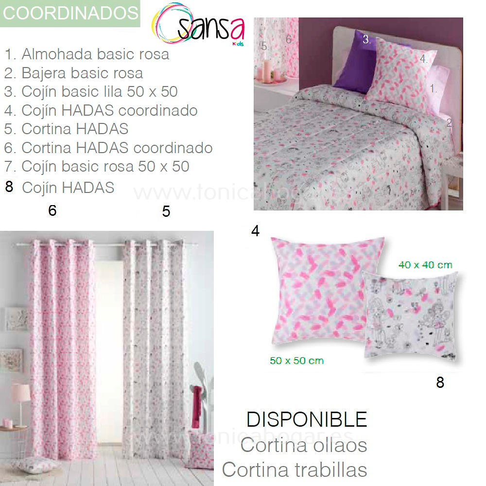 Articulos Coordinados Colcha Capa HADAS de SANSA KIDS de Confecciones Paula