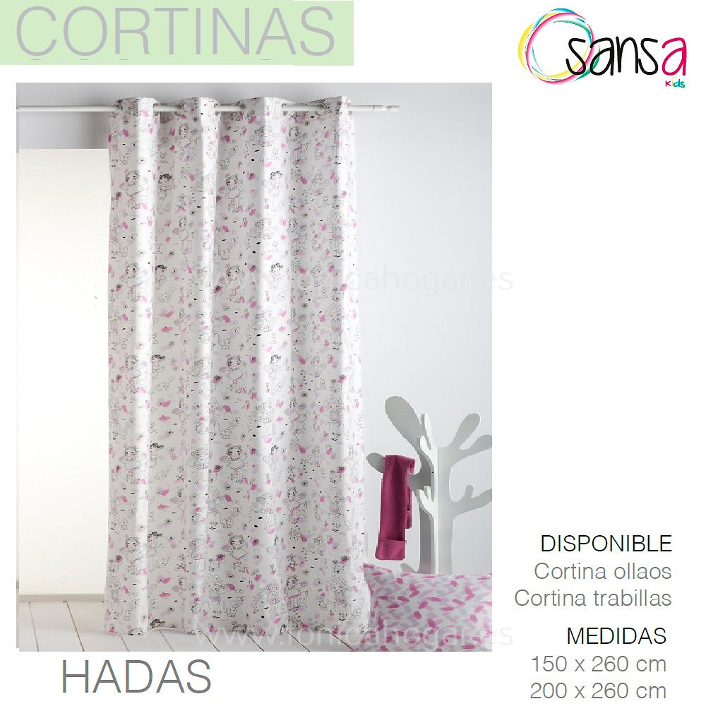 Cortina Confeccionada HADAS de SANSA.