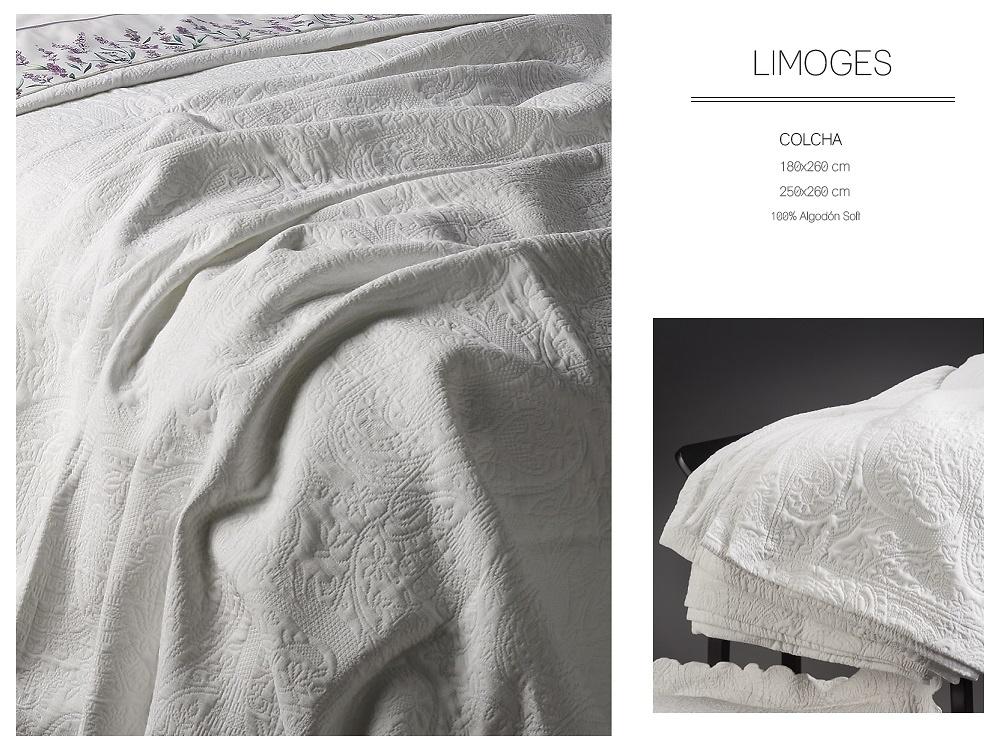 Colcha Capa LIMOGES Blanco CH de GAMANATURA.
