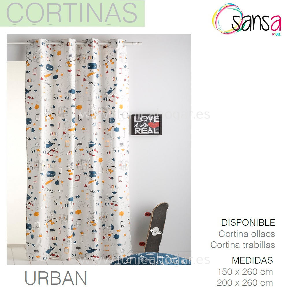 Cortina Confeccionada URBAN de SANSA.