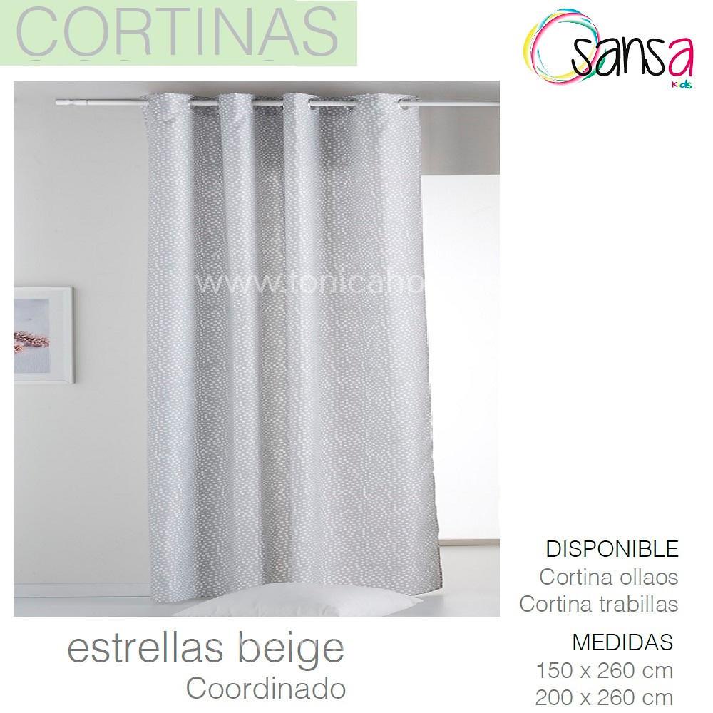 Cortina Confeccionada ESTRELLAS Coordinado color 1 de SANSA.