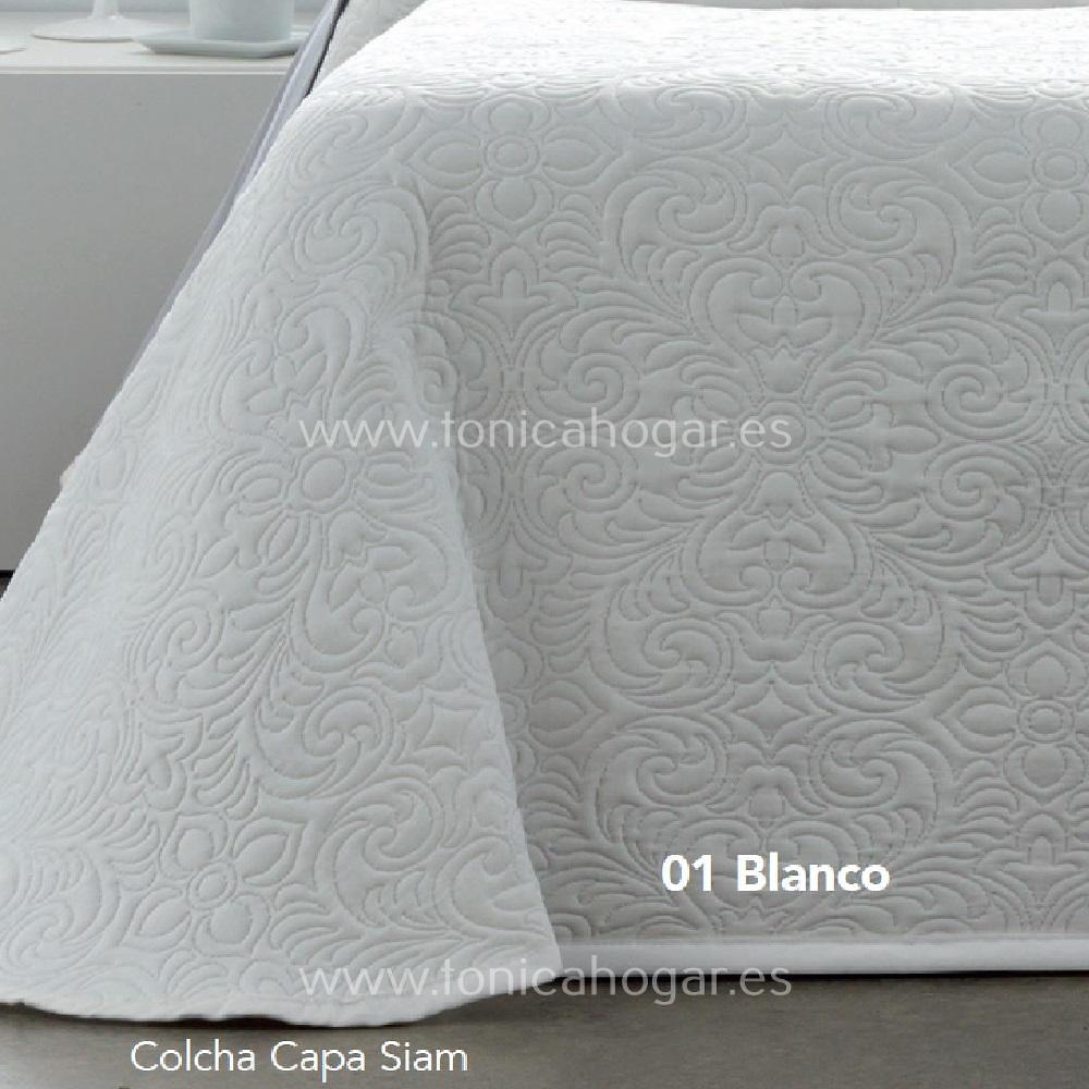 Detalle Colcha SIAM CH c.01 Blanco de CAÑETE
