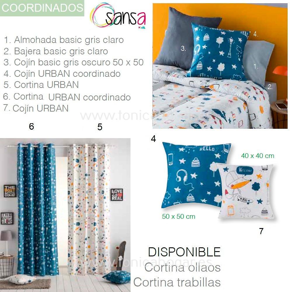 Articulos Coordinados Colcha Verano URBAN de SANSA KIDS de Confecciones Paula