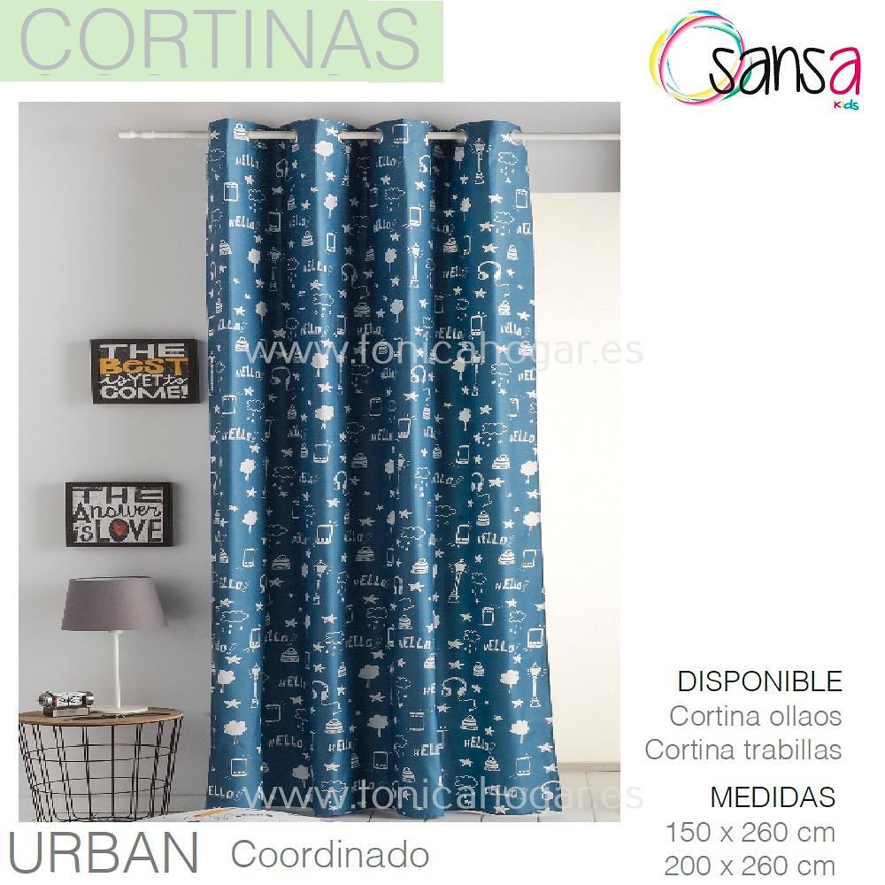 Cortina Confeccionada URBAN Coordinado de SANSA.