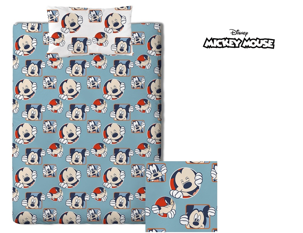 Duo Funda Nórdica Infantil Mickey Laugh de GAMANATURA
