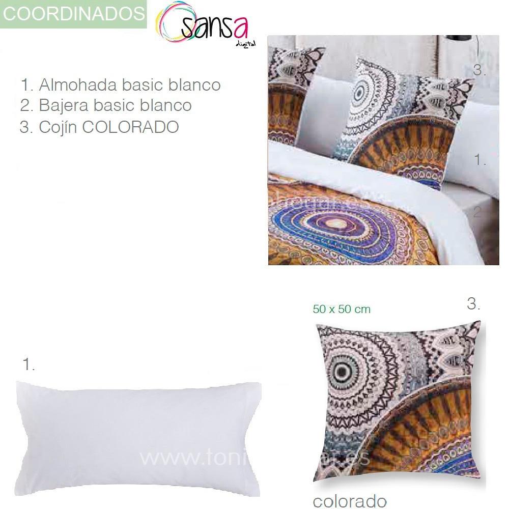 Articulos Coordinados Edredón Ajustable COLORADO de SANSA Digital de Confecciones Paula