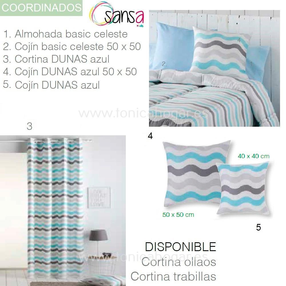 Articulos Coordinados Edredón Ajustable DUNAS 3 Azul de SANSA KIDS de Confecciones Paula