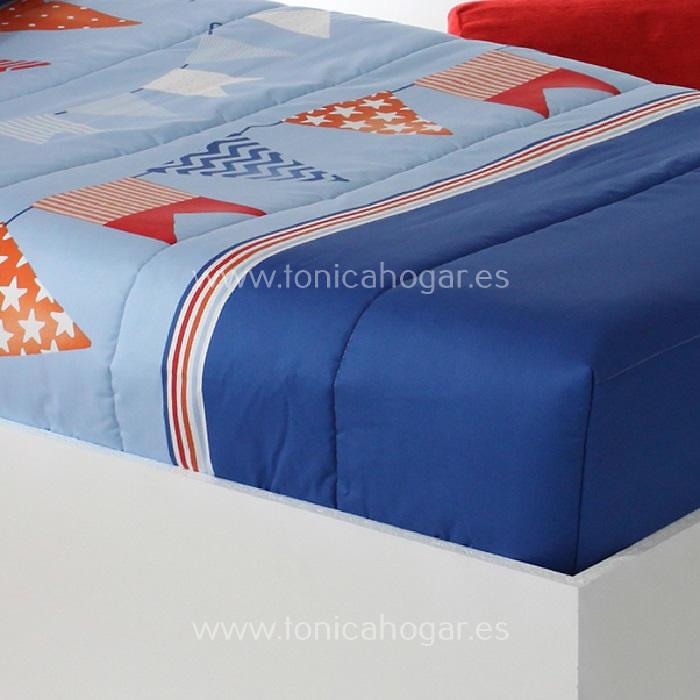 Detalle Edredón Ajustable FLAG AG C.03 Azul de Reig Marti