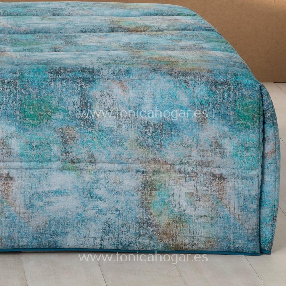 Detalle Edredón Conforter BRUSELAS 03 Azul de SANSA Digital de Confecciones Paula
