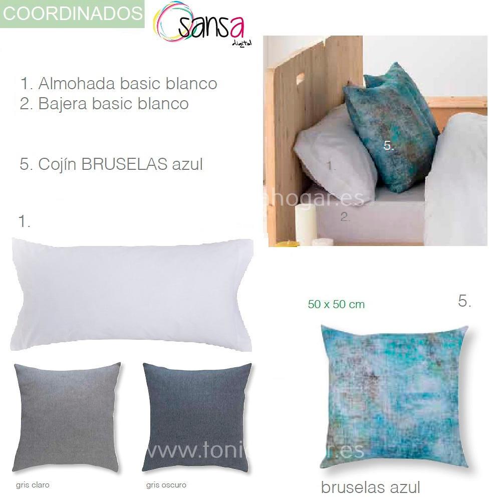 Articulos Coordinados Edredón Conforter BRUSELAS 03 Azul de SANSA Digital de Confecciones Paula