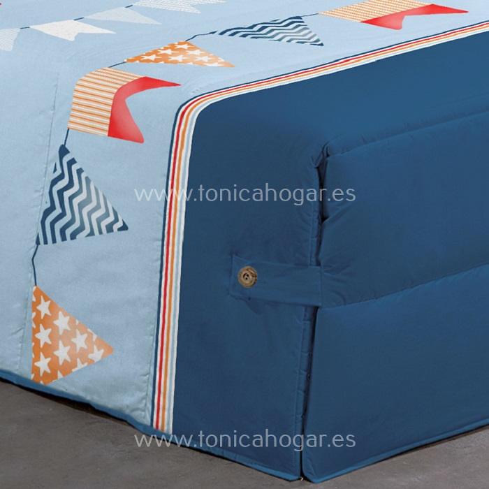 Detalle Edredón Conforter FLAG 02 C.03 Azul de Reig Marti