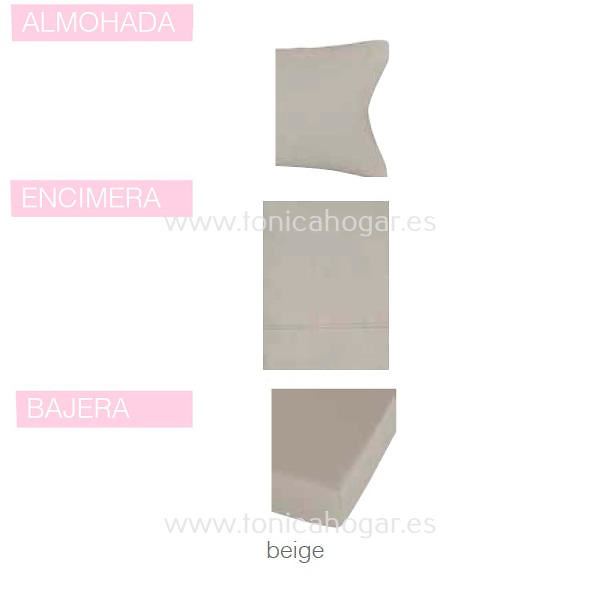 Juego Sábanas BASIC color 03 de SANSA.
