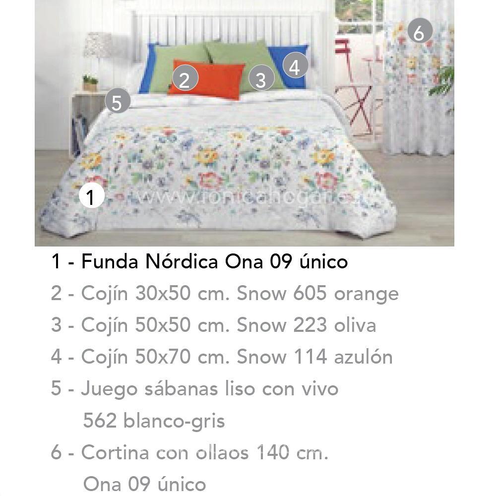 Artículos coordinados Funda Nórdica ONA de Cañete