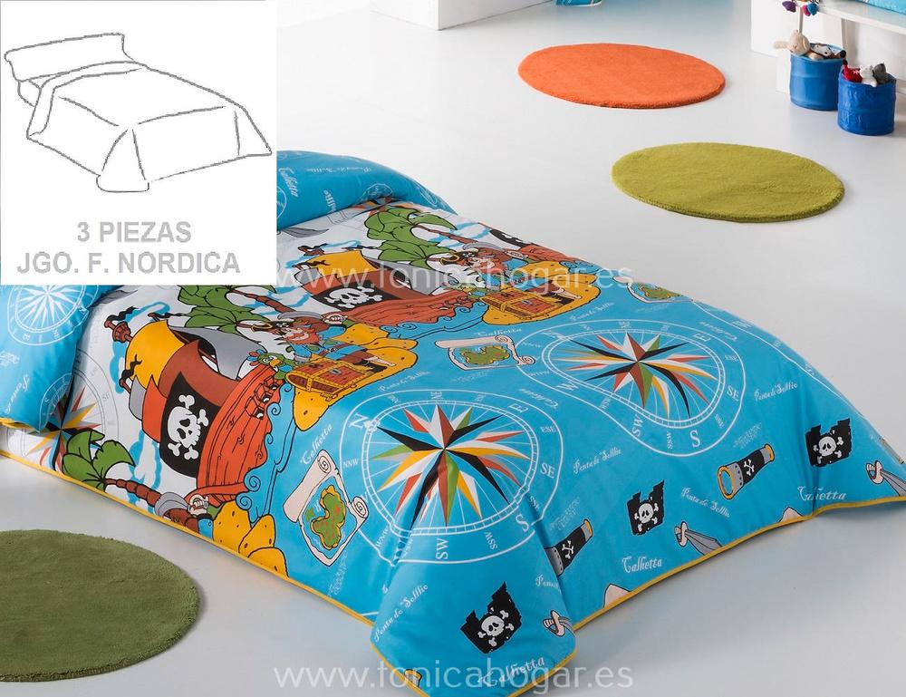 Funda Nórdica Pirata Infantil de SANSA Kids