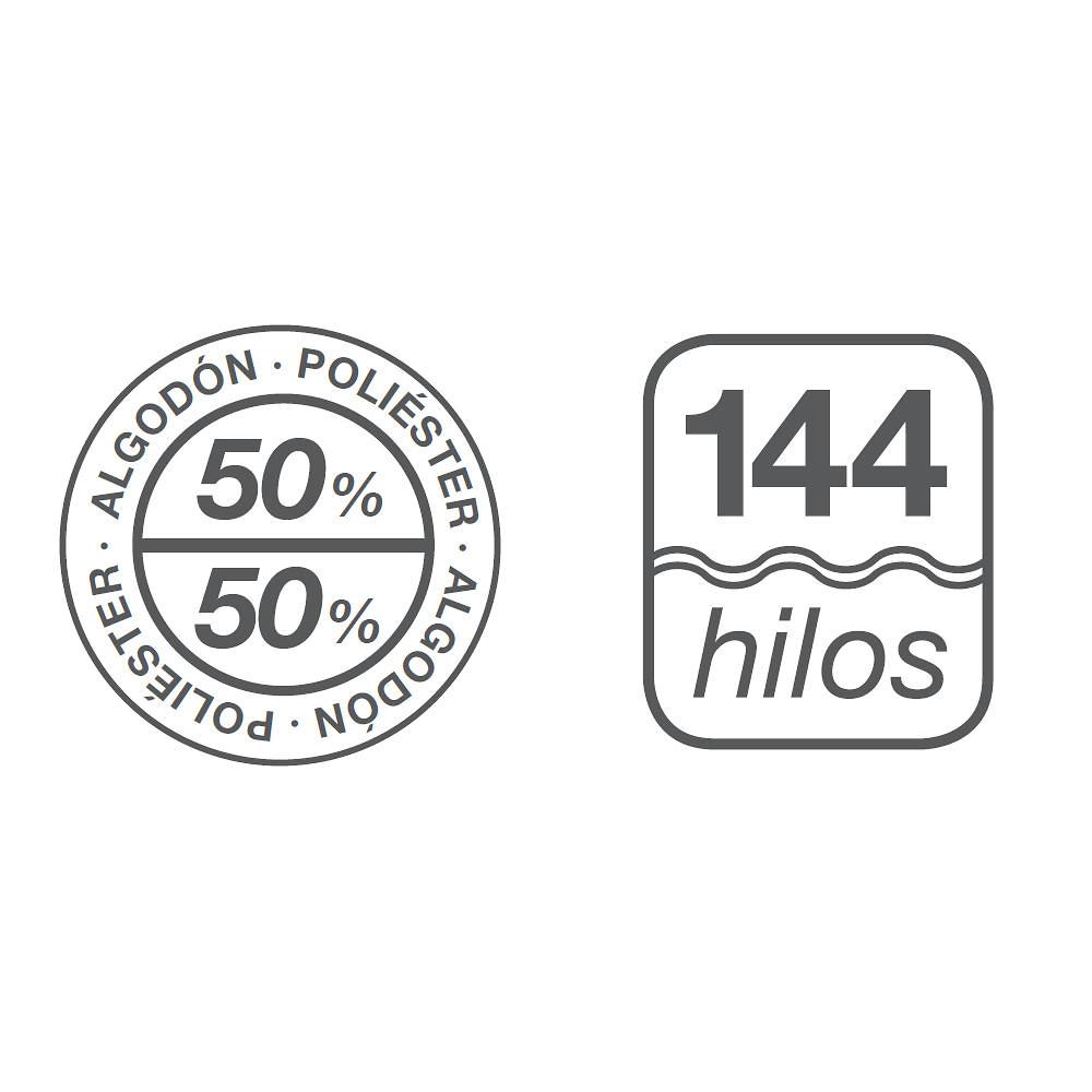 Composicion 50% alg. 50% Pol. Tejido Liso Es-Tela