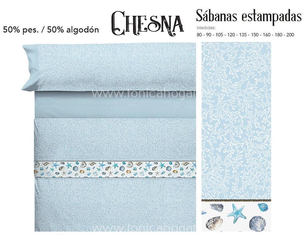 Comprar Juego Sabanas CHESNA Azul de Cañete online