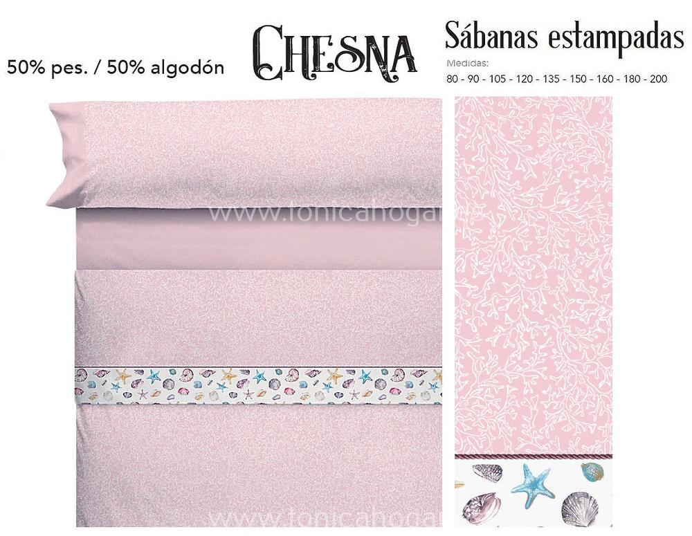 Comprar Juego Sabanas CHESNA Rosa de Cañete online