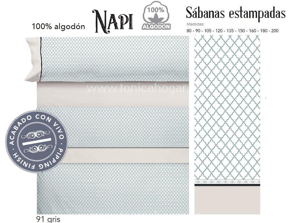 Comprar Juego Sabanas NAPI Gris de Cañete online