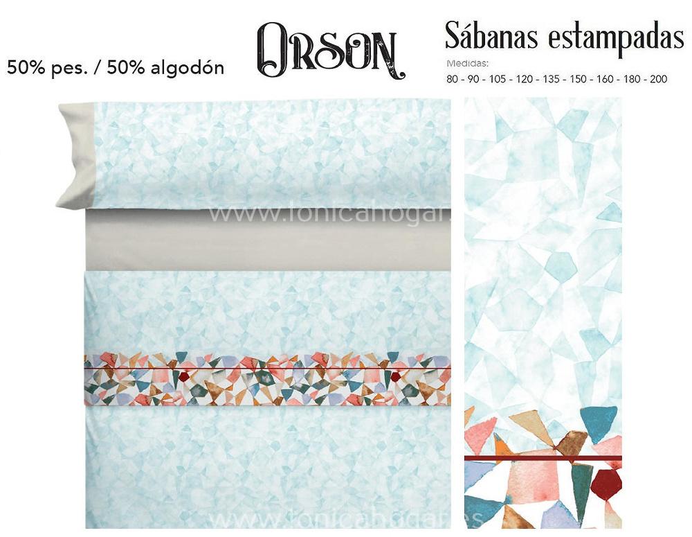 Comprar Juego Sabanas ORSON Turquesa de Cañete online