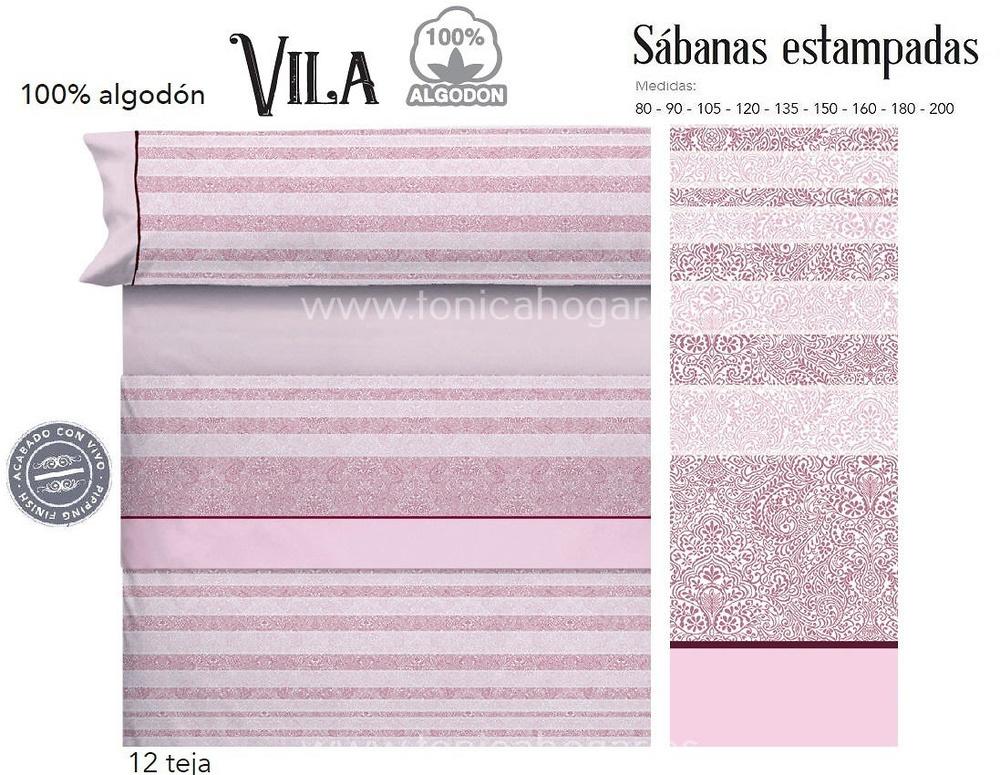 Comprar Juego Sabanas VILA Teja de Cañete online