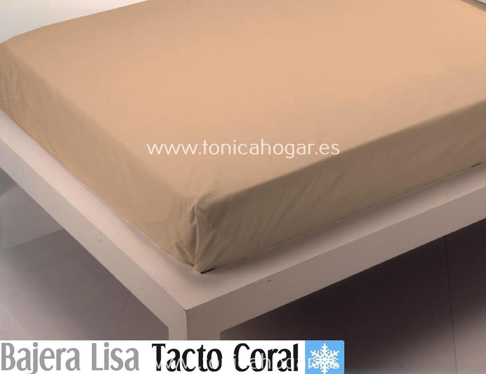Comprar Sábana Bajera Tacto Coral LISA Beig de Cañete online