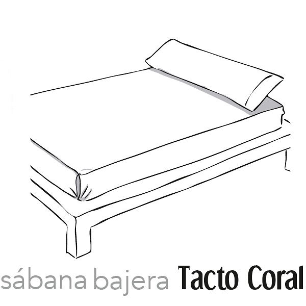 Sábana Bajera Tacto Coral Cañete