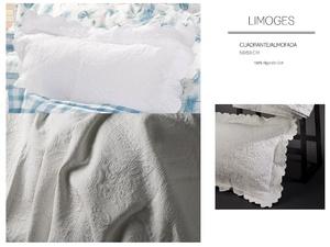Cojin Pique LIMOGES Blanco CH de GAMANATURA.