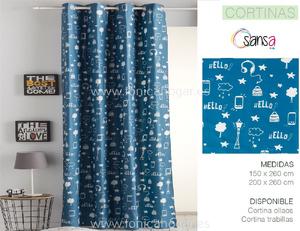 Cortina Confeccionada URBAN coordinado Azul de SANSA