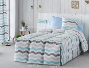 Edredón Conforter DUNAS Azul de SANSA