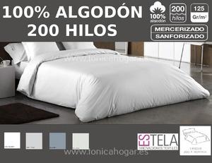 Juego Funda Nórdica 200 HILOS 100% Algodón de Es-Telia.