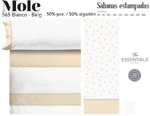 Juego Sábanas MOLE Blanco-Beig de Cañete