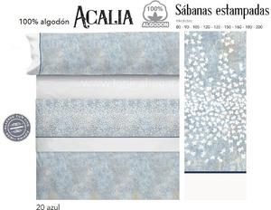 Juego Sabanas ACALIA Azul de Cañete