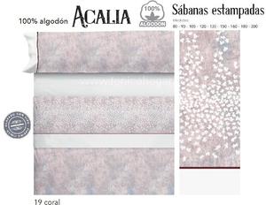 Juego Sabanas ACALIA Coral de Cañete