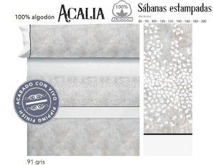 Juego Sabanas ACALIA Gris de Cañete