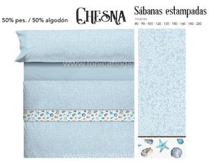 Juego Sabanas CHESNA Azul de Cañete