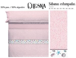Juego Sabanas CHESNA Rosa de Cañete