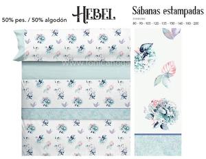 Juego Sabanas HEBEL Azul de Cañete