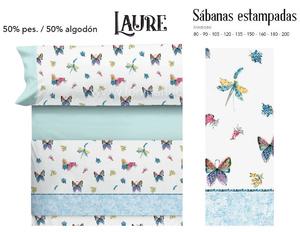 Juego Sabanas LAURE Azul de Cañete